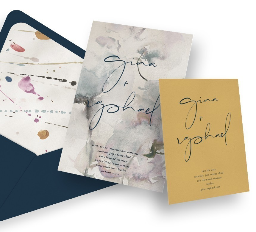 Printed Save the Dates + Invitations