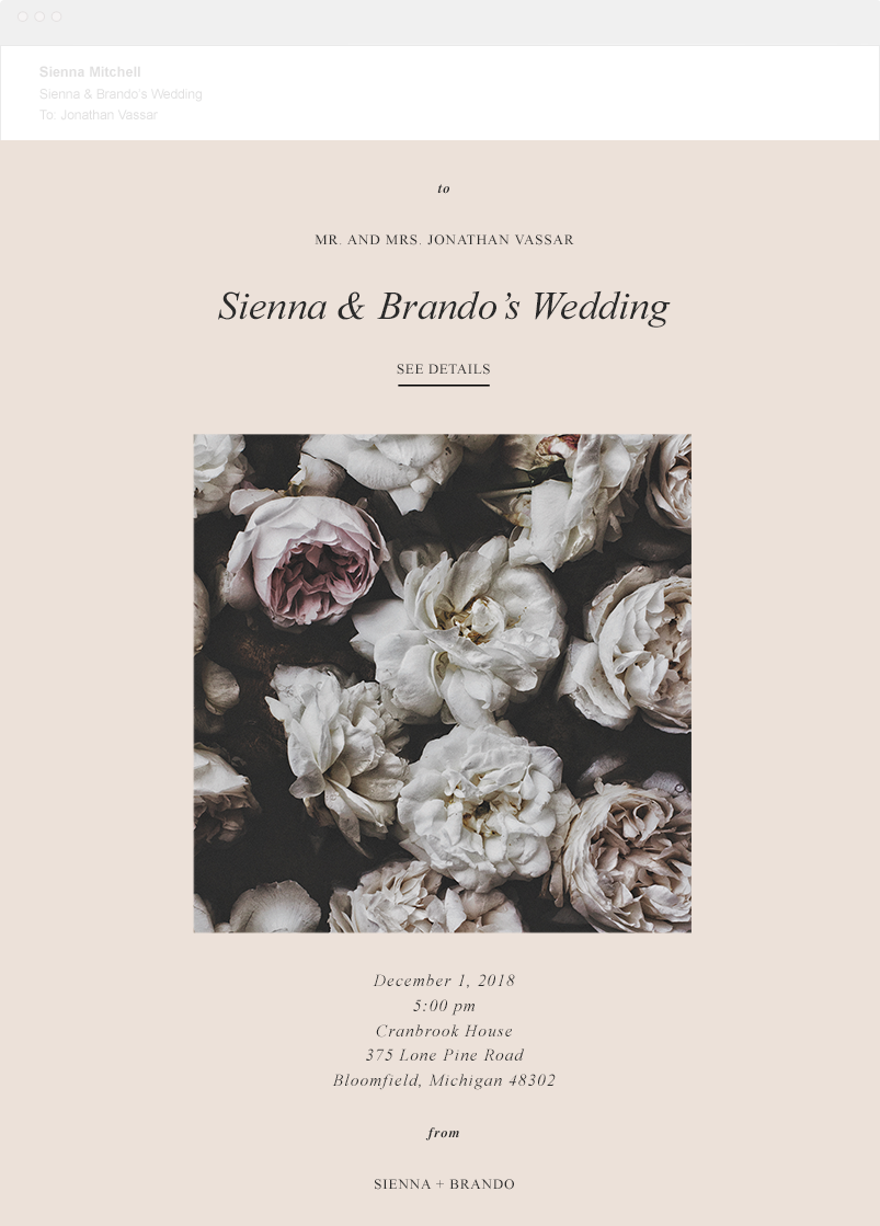 Announce Your Website | Wedding Websites | Bliss & Bone